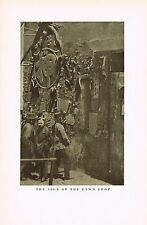 1910's Old Vintage Asian Chinese Pawn Shop Sign Genthe Photo Gravure Print