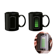 Hot Cold Heat Sensitive Color Changing Mug Cup Ceramic Battery Mug Coffee Tea