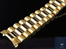 Mens President Watch Band for Rolex Day-Date in 14K Yellow Gold 20 MM 56 Grams