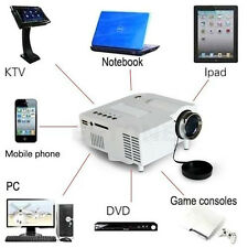Mini 1080P HD Multimedia Home LED Projector Cinema Theater AV TV VGA HDMI USB SD
