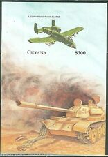GUYANA IMPERFORATED MILITARY AIRCRAFT  SOUVENIR SHEET SC#3328   MINT NH RARE