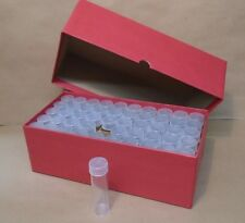 Round Penny Coin Tube Storage Box with 50 Round Cent Tubes Red