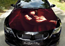 Blood Girl Full Color Graphics Adhesive Vinyl Sticker Fit any Car Hood #148