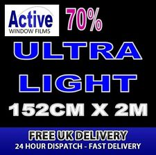 152cm x 2m - 70% Tint Ultra Light Car Window Tint Film Roll - Pro Quality Silver