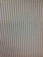 Coffee And Cream Ticking Curtain Fabric 140cm By The Metre