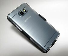 (Brushed) CLEAR SOFT CASE with BELT CLIP HOLSTER for Samsung Galaxy Note 5