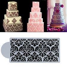 Lace Flower Cake Stencil Birthday Wedding Cupcake Sugarcraft Side Baking Tool