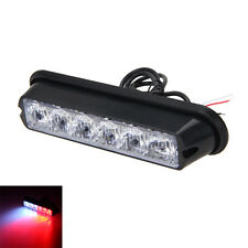6 LED White+Red DRL Car Emergency Beacon Lamp Hazard Strobe Warning Light