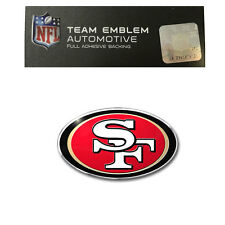 Promark New NFL San Francisco 49ers Color Aluminum 3-D Auto Emblem Sticker Decal