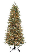 "7.5'x46"" Balsam Blue Artrificial Holiday & Christmas Tree w/700 Clear Lights"