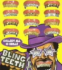 10 Bling Grill Grillz Fake Teeth Bulk  Wholesale Birthday Party Gold Silver New