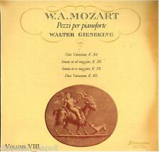 Mozart: Piano Works (Opere Per Pianoforte) Volume VIII /  Gieseking  LP Columbia
