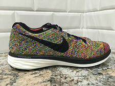 New! Nike Flyknit Lunar3 Multicolor Running Shoes 698181-408 Men's Size 9 RARE