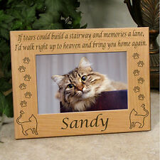 Personalized Cat Memorial Frame - Cat and Butterfly If Tears Poem