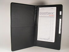 Black Waitress Pad Holder Guest Check Book Order Pad Book NEW