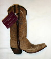 Lucchese M5040 52ZF Size 5B Womens Cassie Cheetah Print Cowgirl Boots CAMEL NEW