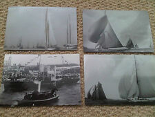 Small Job Lot 4 x Yacht Boat Postcard Sized Photographs inc Tower of London