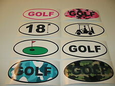 GOLF OVAL Decal LOT Window & Bumper Sticker Mens Ladies Camo Cart 18 Hole