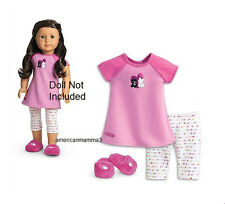 "American Girl MY AG I LOVE PETS PAJAMAS for 18"" Dolls PJ's Doll Pet Slippers"