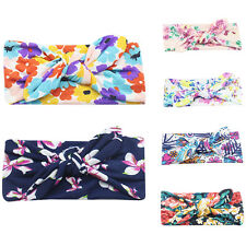 6Pcs Baby Toddler Girl Bowknot Rabbit Flower Hair Band Turban Headband Headwear