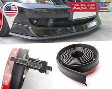 "1.3"" Rubber EZ Fit Flex Bumper Lip Splitter Chin Spoiler Protector for Audi BMW"