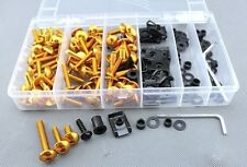 Universal Bolt MC Sportbike Track Pack For HAYABUSA ZX14R ZX10R R1 R6 R6S Gold