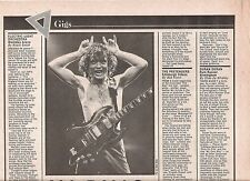 ELO - AC/DC concert reviews December 1981 UK ARTICLE / clipping