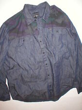 New Mens NWT True Religion Jeans Designer Denim Camo Shirt Button Down 3XL Blue