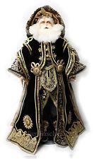 Katherine´s Collection Weihnachtsmann Santa Figur Samtmantel Edel Schwarz & Gold