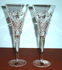 Waterford MURIEL Champagne Flute(s SET/2 Made in Ireland Live a Crystal Life New