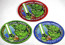STAR WARS 2005 Scout Jamboree Marin Council OA 533  2013 YODA 3 PATCH FULL SET