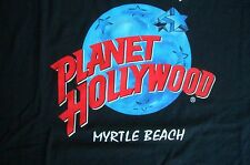 Planet Hollywood Myrtle Beach Black Tee Size L XL-Fotos NWT Neu