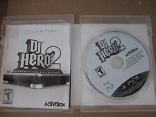 PLAYSTATION 3 GAME DJ HERO 2 W/MANUAL AND CASE DATED 2010