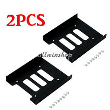 "2pcs 2.5""to3.5"" SSD HDD Metal Adapter Mounting Bracket Hard Drive Holder for PC"