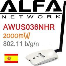 ALFA AWUS036NHR  MIMO ANTENNE WIFI USB N 2000mW 2W RTL8188RU RÉSEAU AWUSO36NHR