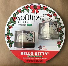 Softlips Cube Lip Balm Hello Kitty Chocolate Mint & Salted Caramel Ltd Edition
