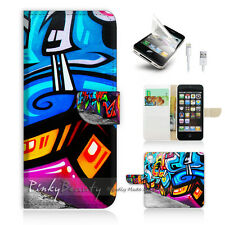 iPhone 5 5S Print Flip Wallet Case Cover! Cool Graffiti P0061