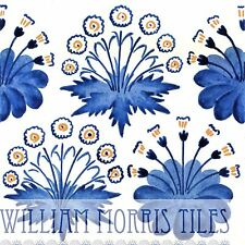 William Morris Daisy Wall Tile  For Bathroom Kitchen Or Fireplace Blue Or Green