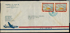 DOMINICAN REPUBLIC 1953 COMMERCIAL AIR MAIL COVER*CIUDAD TRUJILLO TO TOLEDO, OH
