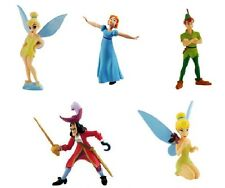 DISNEY PETER PAN SERIE COMPLETA 5 PERSONAGGI COMPLET SET BULLYLAND BULLY