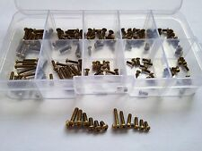 160pcs M2/M2.5 Philips Round Head Copper Screw Brass Bolt Screws Assortment Set