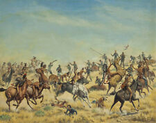 Pitman Theodore Custers Last Stand Canvas 16 x 20  #8839
