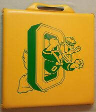 Vintage Oregon DUCKS Football Stadium SEAT CUSHION Donald Block O 14 x 14 Autzen