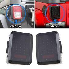 LED Smoked Lens Reverse Brake Lights Rear Tail Back Lamps Jeep Wranger JK 07-16