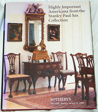 Highly Important Americana from Stanley Paul Sax Collection - Sotheby's 1998 HC