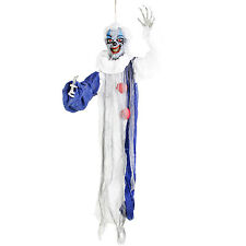 Halloween 3' Hanging Raunchy Scary Clown Reaper Prop Decoration, Circus Music
