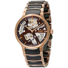 Rado Centrix Brown Automatic Skeleton Dial Mens Watch R30181312