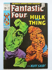 I FANTASTICI QUATTRO # 112 US MARVEL 1971 Thing VS HULK Buscema tipo VFN