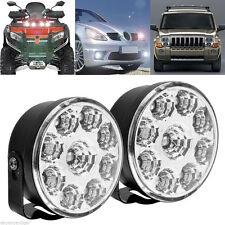 Pair 9LED DRL Daytime Driving Running Light Headlight Car Auto Fog Bulb White