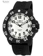 Men's Invicta Watch 0432 Collection Carbon Fiber Case Rubber Strap.